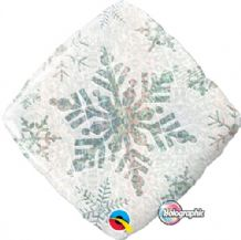 "Winter Foil Balloon - White Snowflake (18"") 1pc"